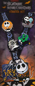 Nightmare Before Christmas Starter Set 4 Disney pins & lanyard NBC Jack zero