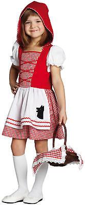 Karneval Fasching Kostüm 104-140 (Kinder, Rotkäppchen Kostüm)