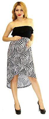 Zebra Maternity Wedding Black White Casual Dress Long Maxi Dresses Baby Shower