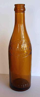 1916 C. BERRY & CO 84 LEVERETT ST BOSTON REGISTERED AMBER BOTTLE OVAL SLUG PLATE