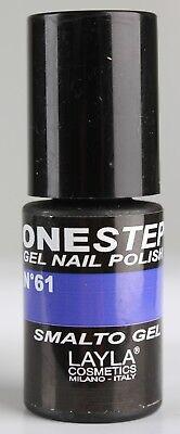 Layla Cosmetic One Step Gel #61 Nagellack Nail Polish UV Lack Blau Lila CS37-G