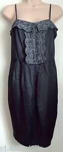 Pied-A-Terre-Lace-Trim-Tulip-Dress-Black-Size-8-or-14-BNWT-RRP-160