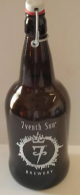 Beer Growler Brown Bottle 7venth Sun Brewery Embossed 1qt