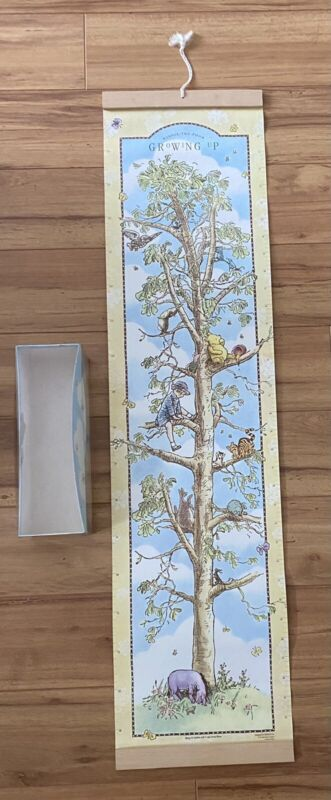 Vintage Classic Winnie The Pooh Growth Chart Wall Hanging