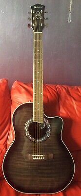 Chord Electro Acoustic Guitar In Black Model Number CMB4CE
