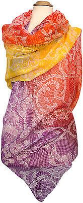 Sommer Schal Sarong Pareo Wickelrock Orange Gelb, Violett, Lemon stole shawl ()