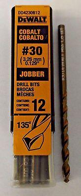 DeWalt DD4230B12 #30 Wire Cobalt Jobber Drill Bits 12 German