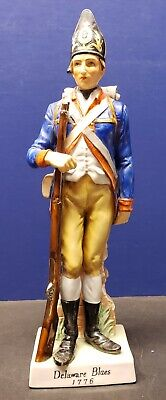 "1st Delaware Regiment Revolutionary War Figurine ""Delaware Blues 1776"" Estate"