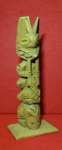 """RAY WILLIAMS (1933-88) - NWC TOTEM POLE - 9"""" BEAUTIFUL Example by Master Carver"""