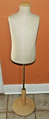 Fusion Specialties Cloth Covered Mannequin Form Bust Adj Stand Free Ship - Child