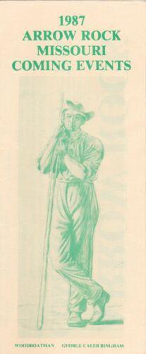 1987 Arrow Rock Missouri City Map & Events Guide Brochure