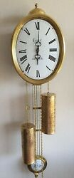 Comtoise Wall Clock 8 Day Hermle Bell Strike Dutch Made Pendules Vintage 70s