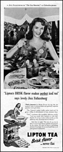 1945 Jinx Falkenburg~The Gay Senorita Lipton Tea vintage photo Print Ad adL98