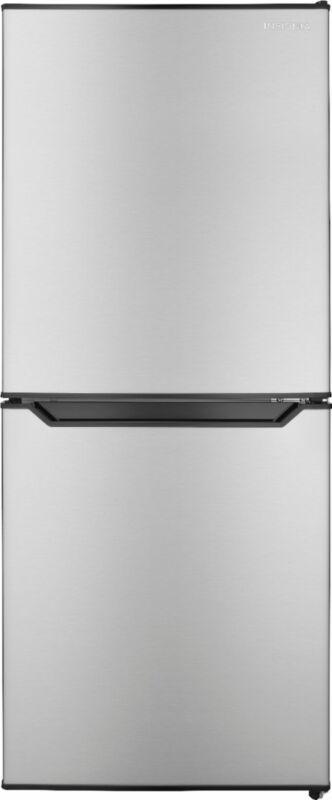 Insignia- 4.9 Cu. Ft. Mini Fridge with Bottom Freezer - Stainless Steel
