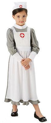Army Nurse Kids Girls WW2 World War 1940s 30s Fancy Dress Book Day Costume