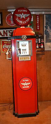 Vintage Southwest Pump Co  Gas Pump  Flying  A