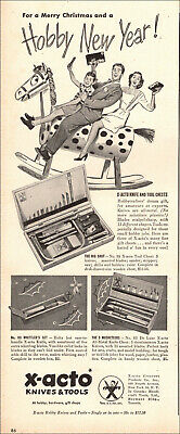 1947 vintage Holiday AD for X-ACTO Knives and Tools Sets Family Fun  030119 for sale  Shipping to United Kingdom
