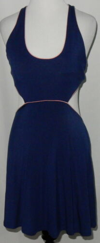 Victoria's Secret Women's Dress Size M Sexy Navy Blue Pink Trim Open Back SEXY