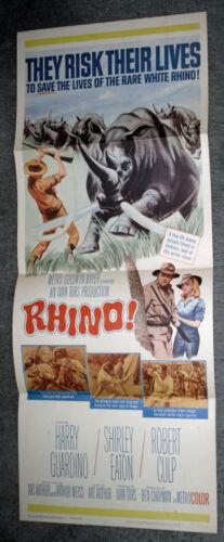 RHINO original 1964 14x36 movie poster SHIRLEY EATON/ROBERT CULP/HARRY GUARDINO