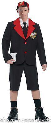 Herren Erwachsene Schwarz Schulanfang Junge Uniform Junggesellenabschied - Schuluniform Kostüm Junge