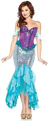 Adult The Little Mermaid Disney Princess Ariel Enchanting Deluxe Dress Costume