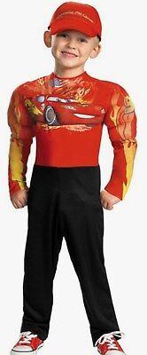 Kids Lightning Mcqueen Costume (Disney Cars Lightning McQueen  Muscle Costume Size 7-8 M New Medium Child)