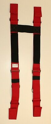 Firefighter Suspenders Red Padded H Style Inno Tex Hbp-r 756-3 Turnout Gear Nos