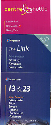 3 STAGECOACH BASINGSTOKE AREA 2019 BUS TIMETABLES