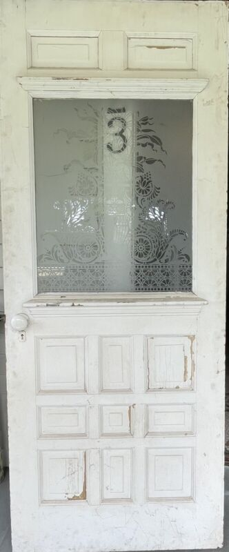Entry Door With Etched Glass