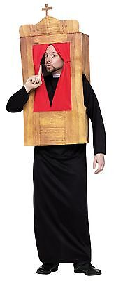 Mens Priest Costume Confessional Booth Outfit Kissing Room Funny Sin Adult NEW - Mens Funny Costumes