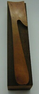 Vintage Wood Number 7 Letterpress Printer Block Type 1516 X 4 18