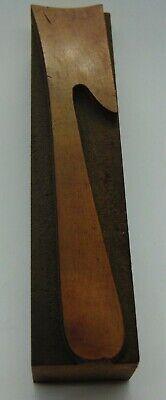 Vintage Wood Number 7 Letterpress Printer Block Type 1516 X 4 18