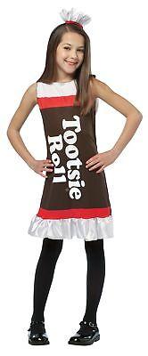 Tootsie Roll Child Costume (Tootsie Roll Tank Dress Child Costume Candy Chocolate)