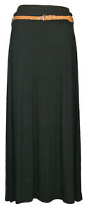 A28 NEW WOMENS LADIES GYPSY LONG JERSEY BELTED MAXI DRESS SKIRT DRESS SIZES 8-14