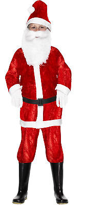 Boys Girls Childrens Kids Santa Father Christmas Fancy Dress Costume Outfit - Childrens Santa Outfits