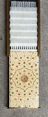 A Vintage  Stratton Brush Off Gilt Pattered Brass Compact Clothes Brush