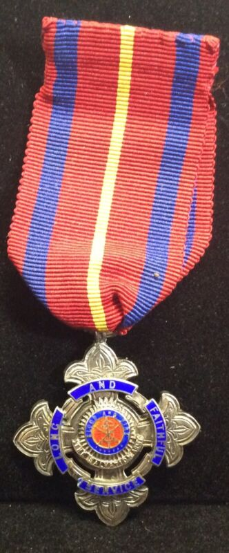 Vintage Sterling Silver Salvation Army Long And Faithful Service Engraved Medal