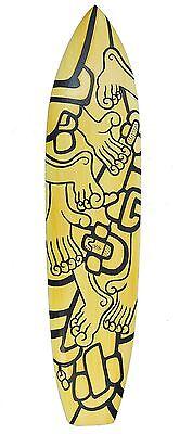 Tabla de surf en el art arte Aspecto Decoración para colgar 100cm manos pies