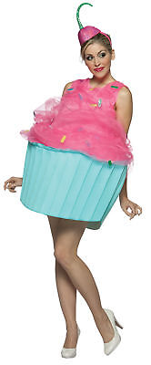 Sweet Eat Cupcake Dessert Food Adult Women's Costume Fancy Dress Rasta Imposta