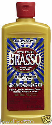 BRASSO 8 oz Metal Polish & Cleaner for Brass, Copper, Aluminum NEW!