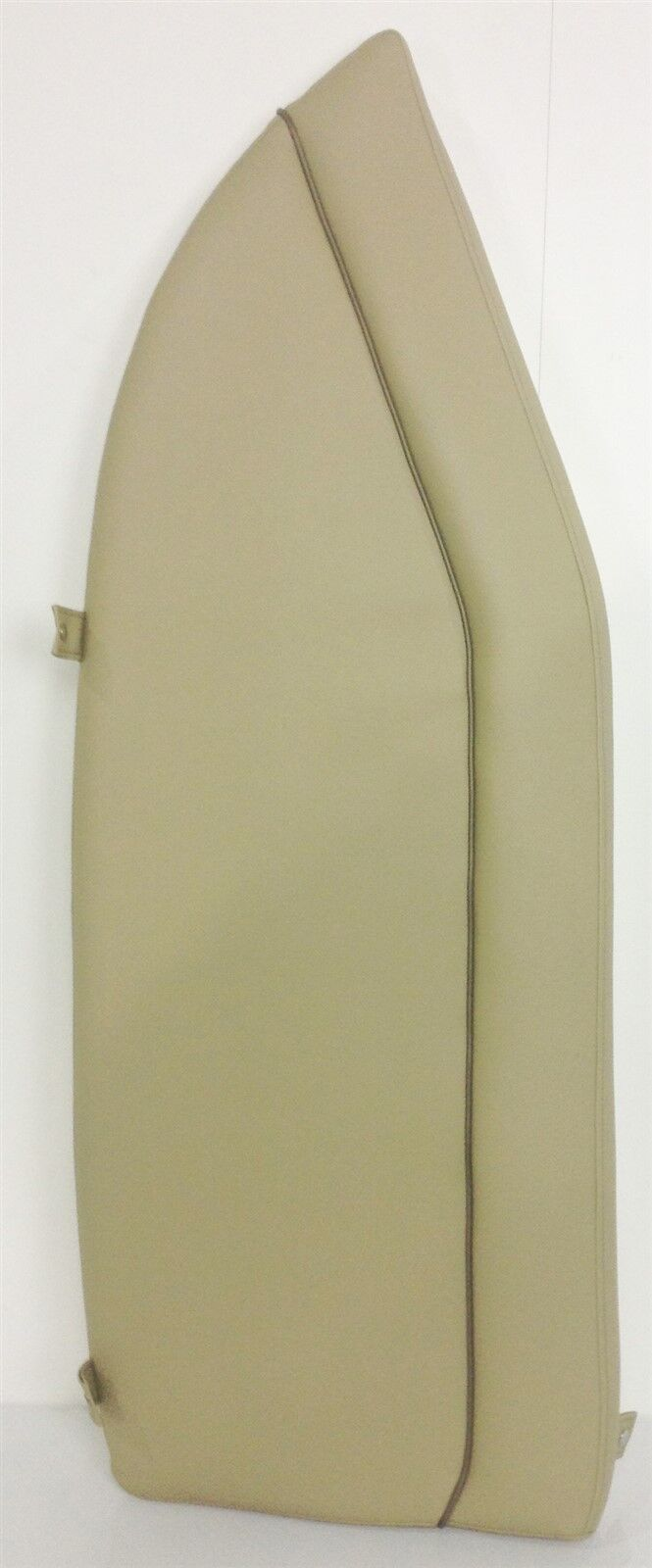 NEW Sportsman Boats Bow Cushion Port Tan W/ Brown Accent Strip And Snaps Marine