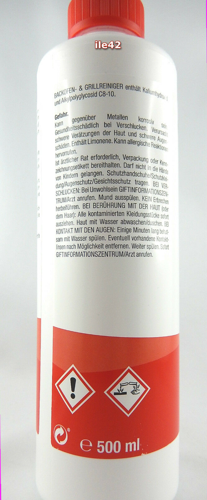proWIN BACKOFENREINIGER & GRILLREINIGER (500ml) +