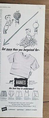 1951 Hanes Best Buy in Unterwäsche Kaugummi Maschine Kunst Anzeige Kaugummi-maschine