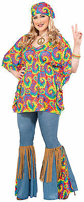 Hippie Chick Plus Size Costume Womens 70's Hippie Costume Womens Plus Size - Plus Size 70s Costumes