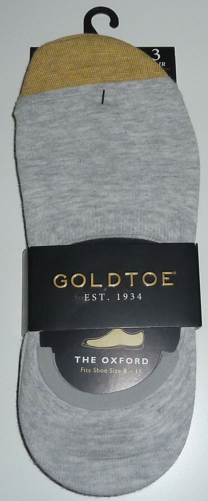 """GOLD TOE """"The Oxford"""" No Show Socks 3 Pair Pack Size 8-11"""
