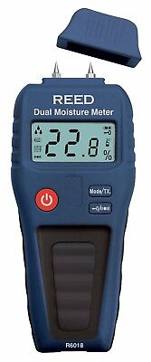 Reed R6018 Dual Moisture Meter Pinpinless For Wood And Building Materials