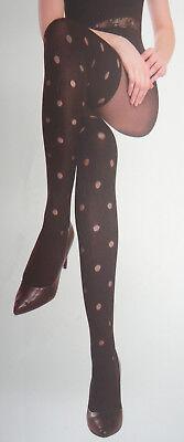 Sexy Damen Strumpfhose Schwarz Overknees Strapsen Style mit Punkte 180DEN A6752