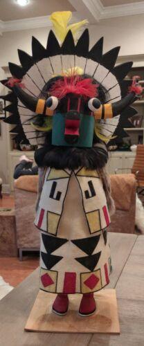 "Christmas Zuni Santa Claus, the Shalako  Kachina Doll 18 1/4"" tall Handpainted"