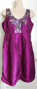 Pied-A-Terre-Sequin-Taffeta-Dress-Aubergine-Size-8-or-10-RRP-150