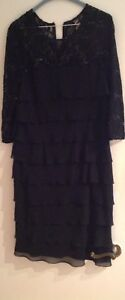 Black flare dress with 3/4 sleeve (size 14+)
